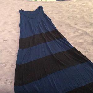 GAP blue and black maxi dress